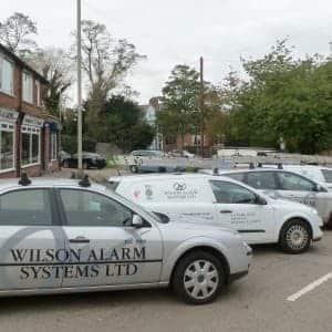 An image of a Wilson Alarm Systems LTD Car parked in Hinckley