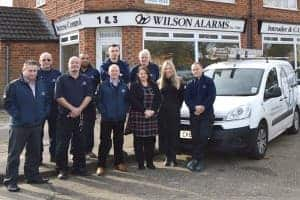 An image of the staff members that work at Wilson Alarm Systems Ltd