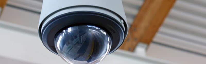 An image of a 360 degree CCTV camera