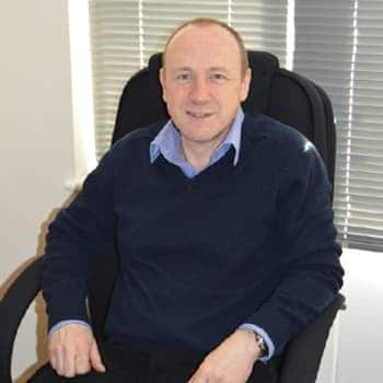 An image of a Wilson Alarm Systems employee named David Stothard