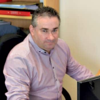 An image of a Wilson Alarm Systems Ltd employee named Ian Tew