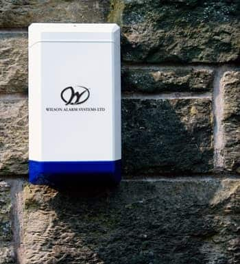 An image of an intruder alarm protecting a property