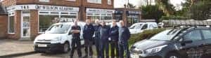 An image of the team of engineers at Wilson Alarm Systems Ltd