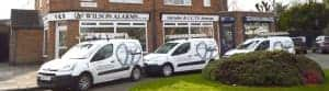 An image of the liveried vehicles used by Wilson Alarm Systems Ltd