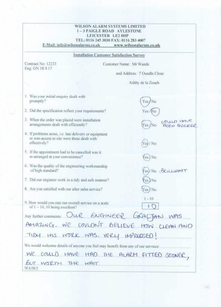 handwritten testimonial