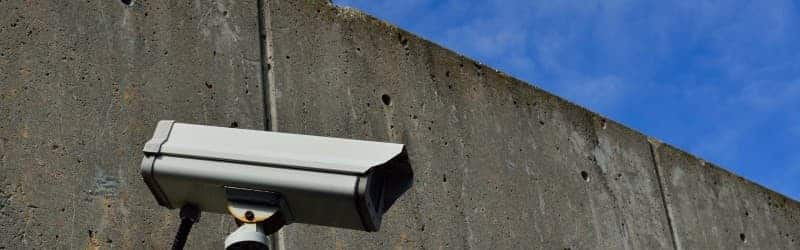An image showing a security alarm attached to a wall.