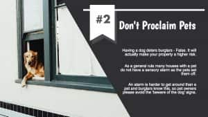 Don't proclaim pets