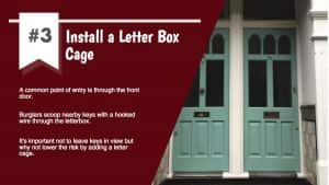 Install a letter box cage