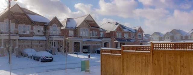 houses with snow on them