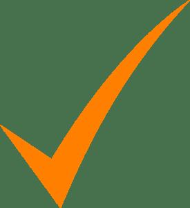 An image of an orange tick.